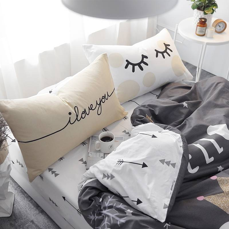 Kid's White Bear Pattern Bedding Set