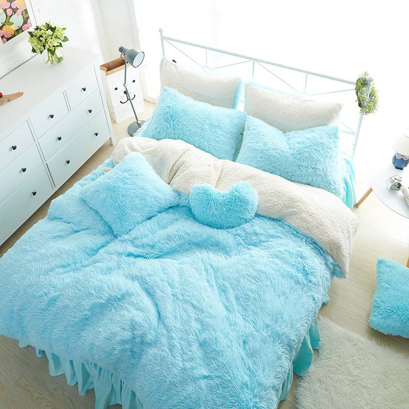 Kid's Cute Fluffy Bedding Set (8 Colors)