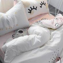 Kid's Cartoon Goose Cotton Bedding Set