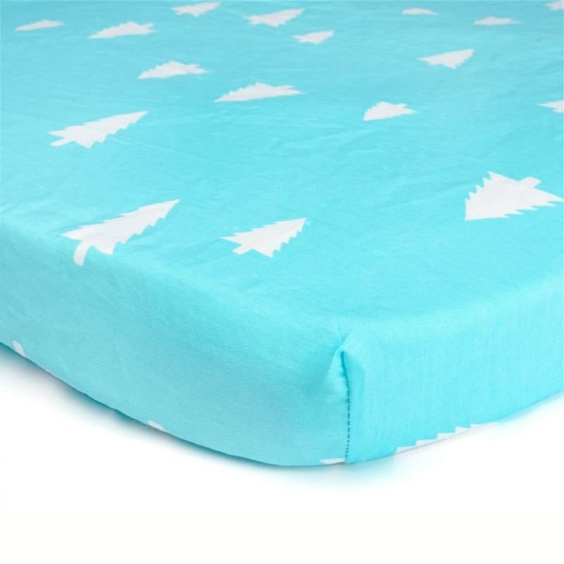 Printed Cotton Crib Mattress Cover