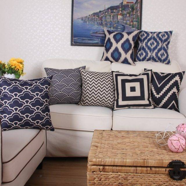 Nordic Style Geometric Pattern Pillow Cover