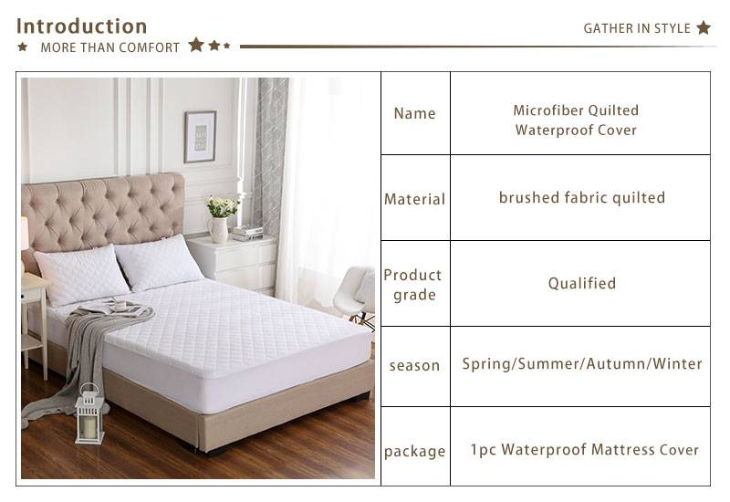 Microfiber Bed Cover Waterproof Quilted Mattress Protector