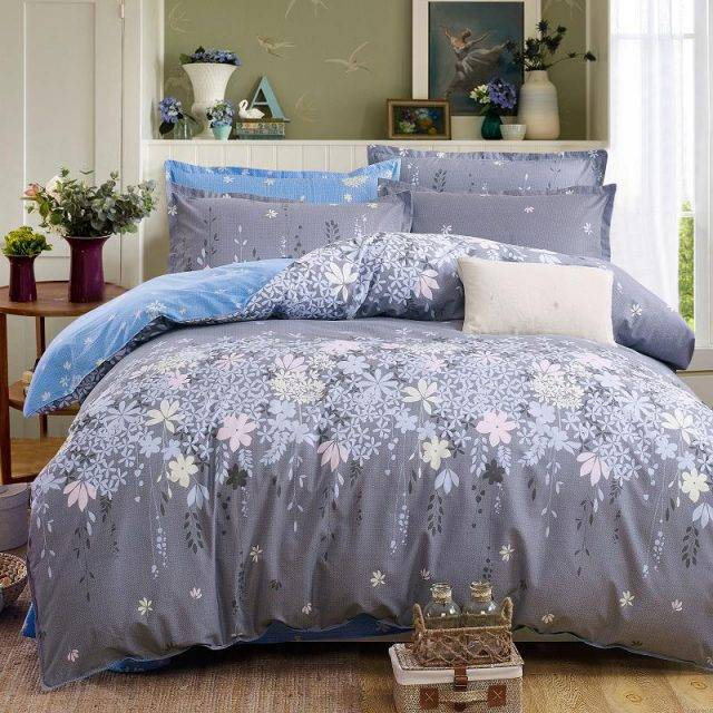 Plaid Bedding Set Duvet Cover Bed Sheet Pillowcases