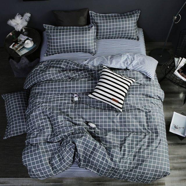 Super Soft Star 3pc Duvet Cover Bedding Set Flat Sheet Pillowcase