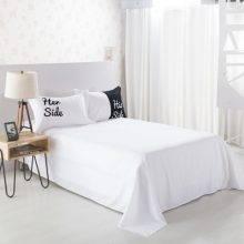 Black & White Soft Duvet Cover His Side & Her Side Bedding Set