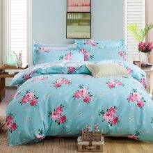 Floral Pattern Bedding Set 4pcs Quilt Cover with Bed Sheet Pillowcases