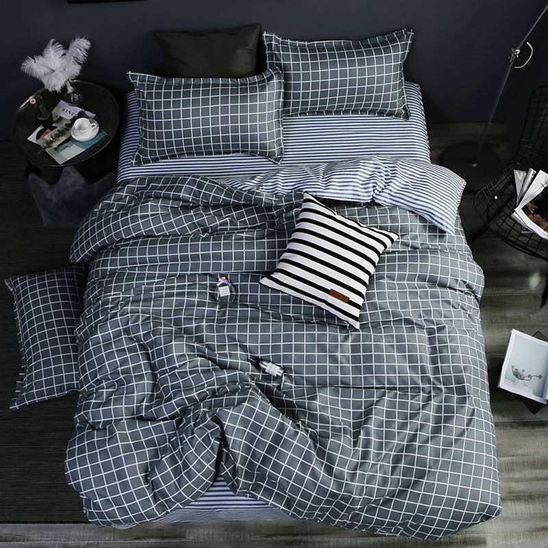 Grey PineTree Duvet Cover Bedding Set Bed Sheet Pillowcases