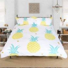 Pineapple Bedding Set Duvet Cover Printed Fruit 3 Pcs Bedsheet+Pillowcases