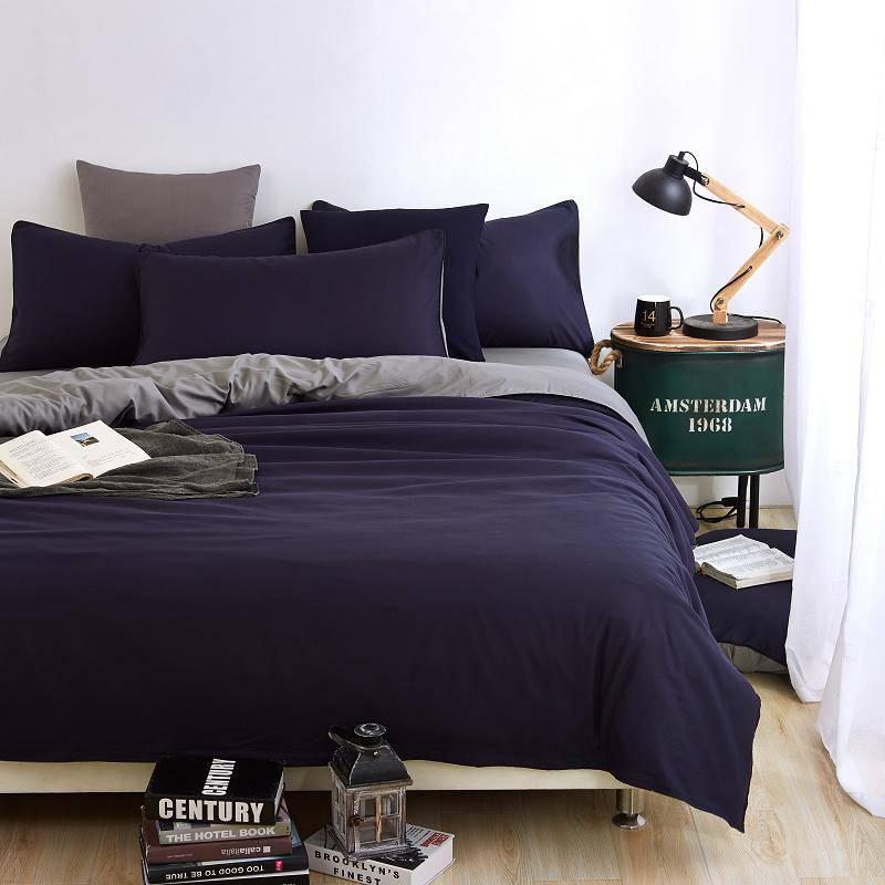 Solid Duvet Cover Microfiber Bedding Set (29 Colors)