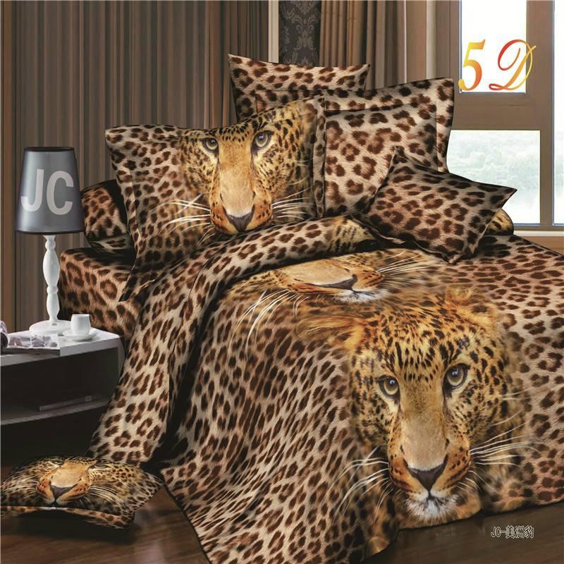 3D Leopard Duvet Cover Bedding Set ( 4 Colors)