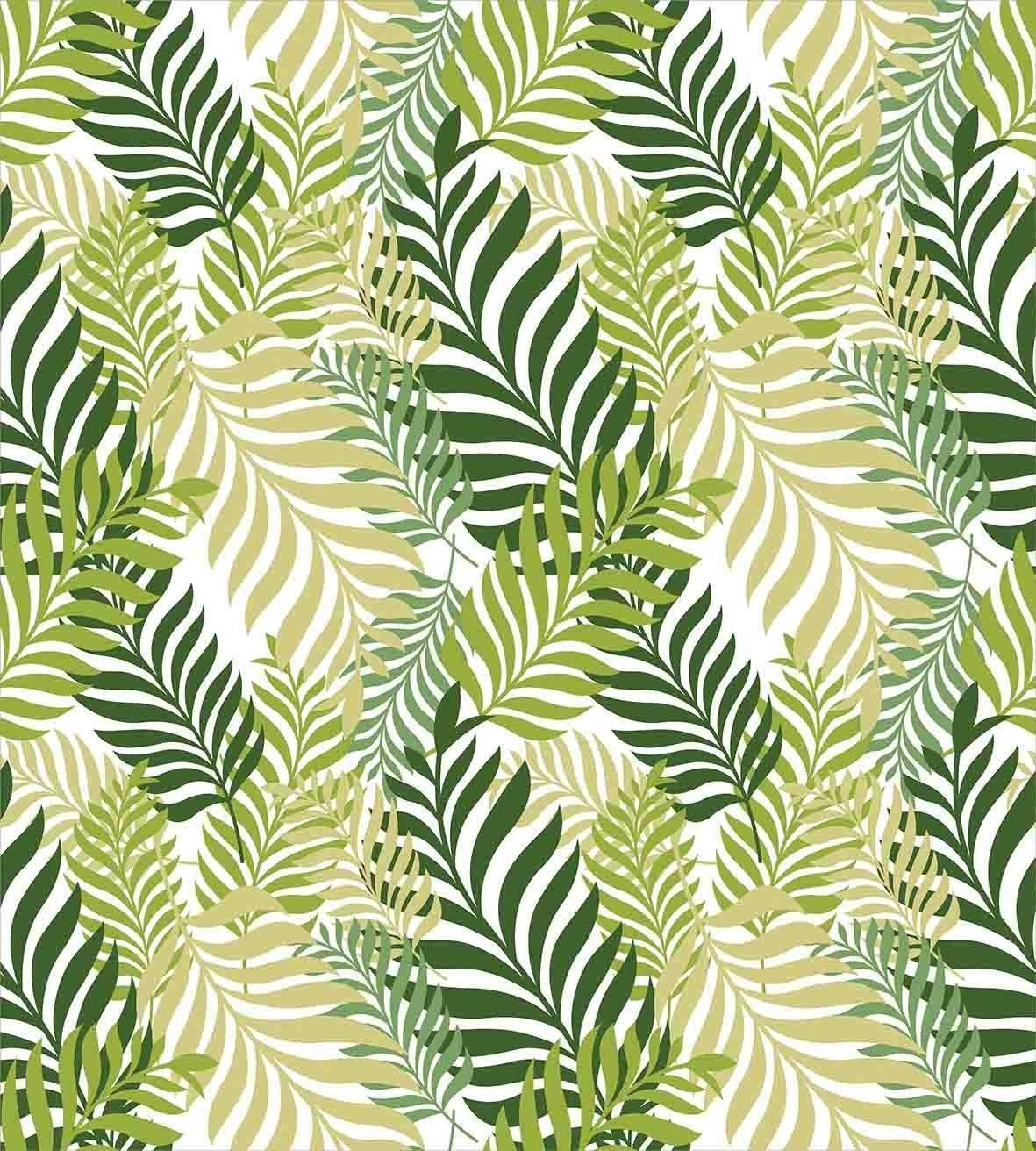 Botanical Palm Leaf Duvet Cover Bedding Set