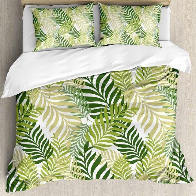 Botanical Palm Leaf Duvet Cover Bedding Set