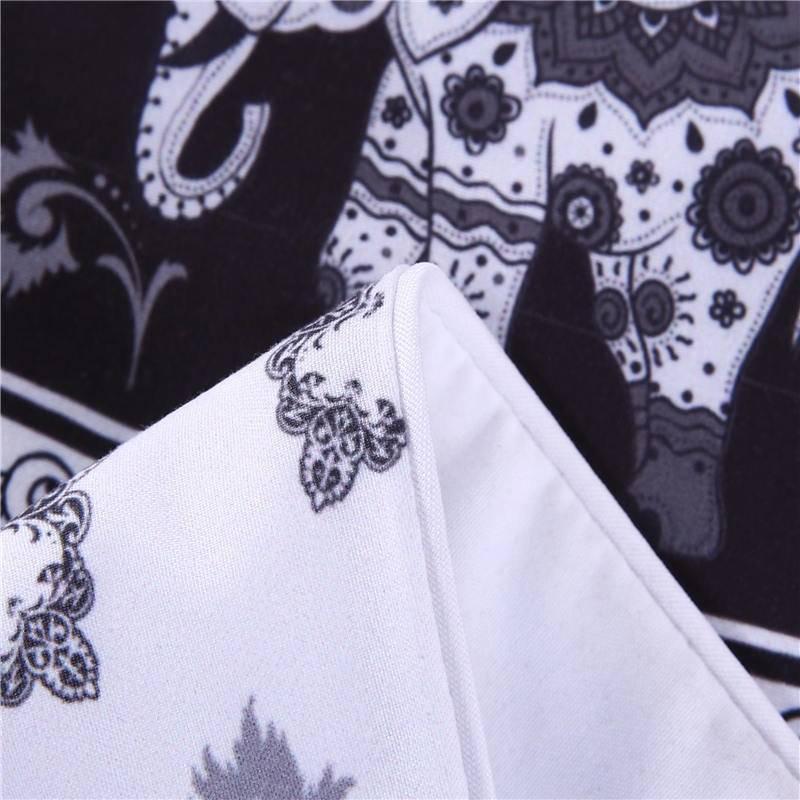 Black and White Bohemian Duvet Cover (Various Styles)