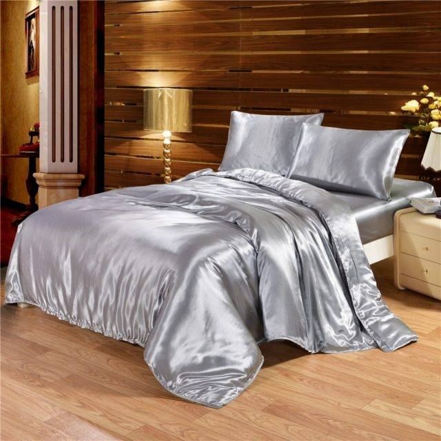 Silk Cotton Duvet Cover Luxury Bedding Set (5 colors)