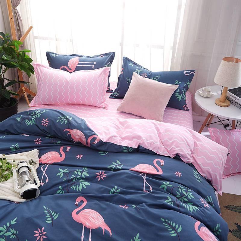 Flamingo Duvet Cover Tropical Bedding Set (9 styles)