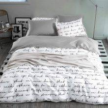 Black and White Letter Duvet Cover Bed Set (4 colors 5 Sizes)