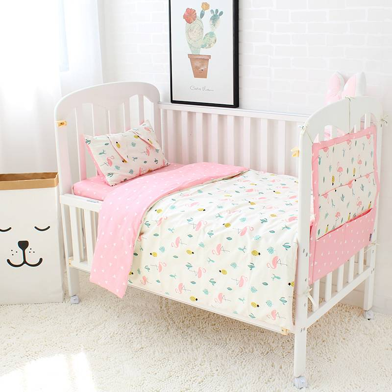 Baby Crib Bedding Set Pure Cotton (2 Designs)