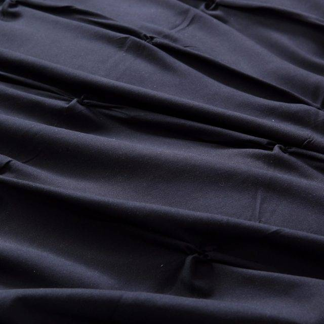 Black Grey Luxury Duvet Cover Pinch Pleat (3 colors)