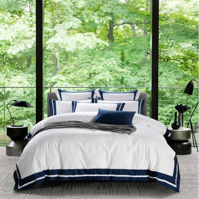 Hotel White Luxury Egyptian Cotton Bedding Set Queen King size Duvet Cover Bed/Flat Sheet Fit sheet set Pillowcases
