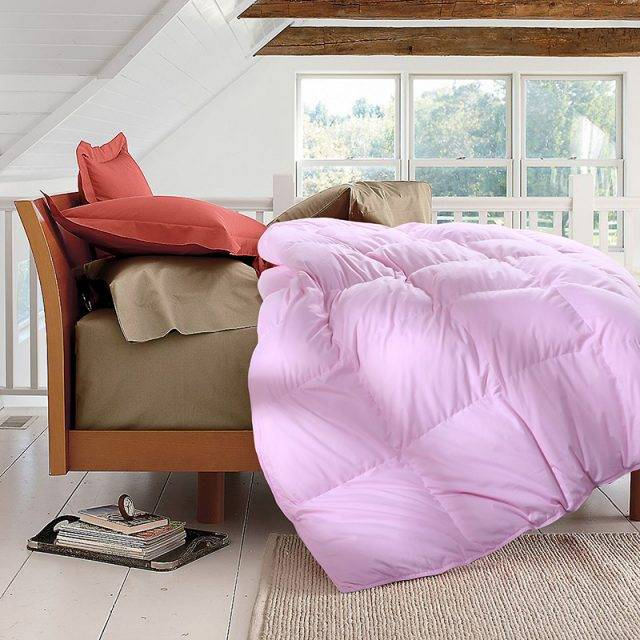TUTUBIRD-100% white duck/goose down winter quilt comforter blanket duvet filling cotton cover twin single queen supper king size