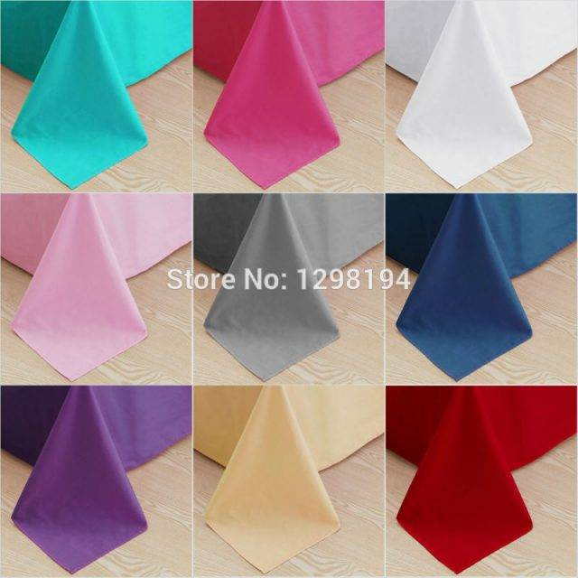Home textile 100% Cotton Bed Sheet Flat Sheets Combed Cotton Bedding Linen Solid Color for twin full queen king