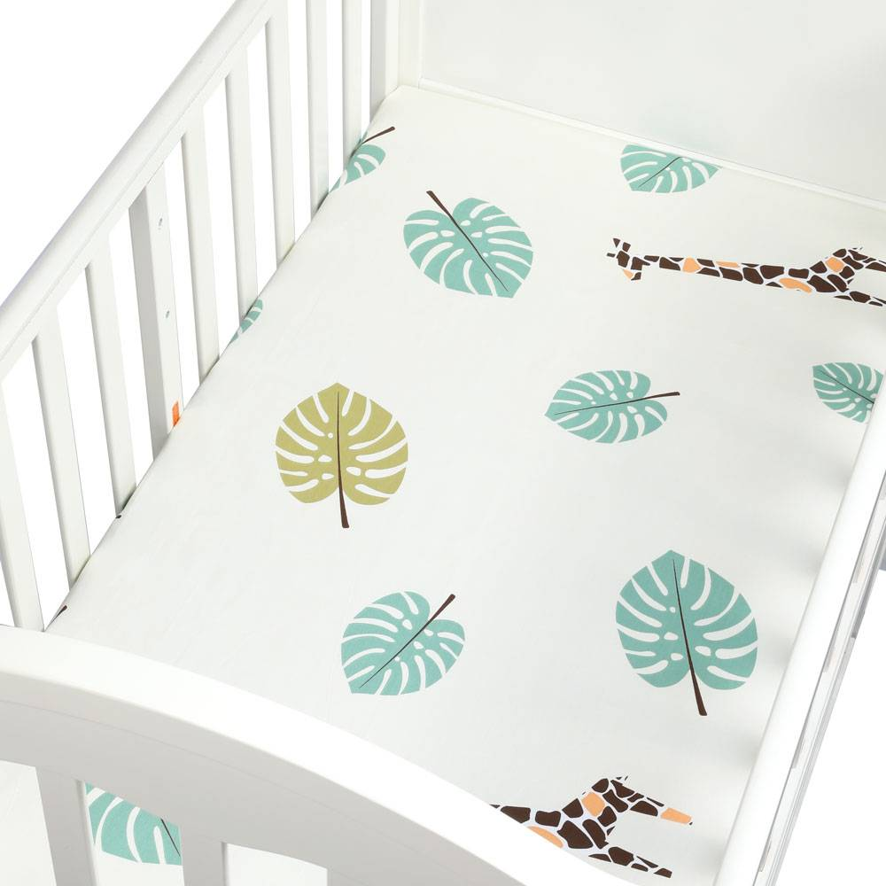 100% Cotton Percale Fitted Portable/Mini Crib Sheet Bed Baby Bed Mattress Cover 130*70 cm Sheet Fitted Crib Sheet Soft