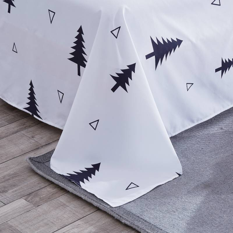 Cartoon Christmas Tree Elk Bedclothes Simple Fashion Geometric Stripes Bed Sheet Duvet Cover Sets 3/4pcs Bedding Set