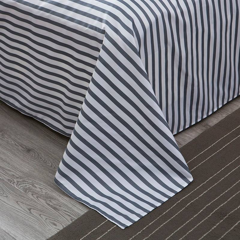 Bedspread Simple Fashion Geometric Stripes Bed Sheet Duvet Cover Sets 3/4pcs Bedding Set