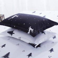 Solstice Cartoon Christmas Tree Elk Bedclothes Simple Fashion Geometric Stripes Bed Sheet Duvet Cover Sets 3/4pcs Bedding Set