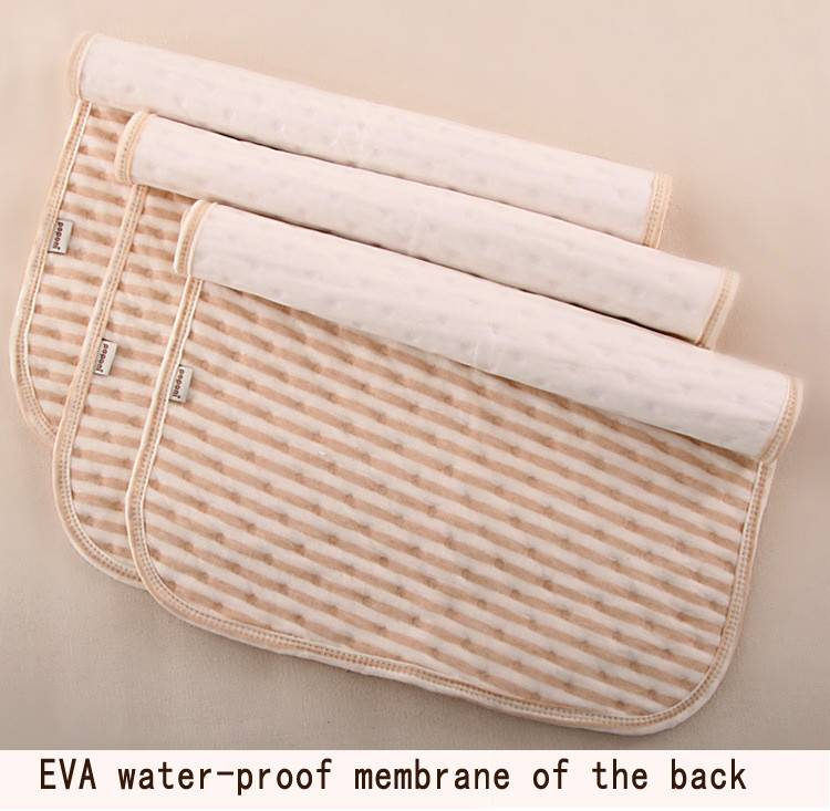 Organic colored cotton + Waterproof EVA Layer Baby Changing Mat Waterproof Changing Pad Bed Sheets for Newborn