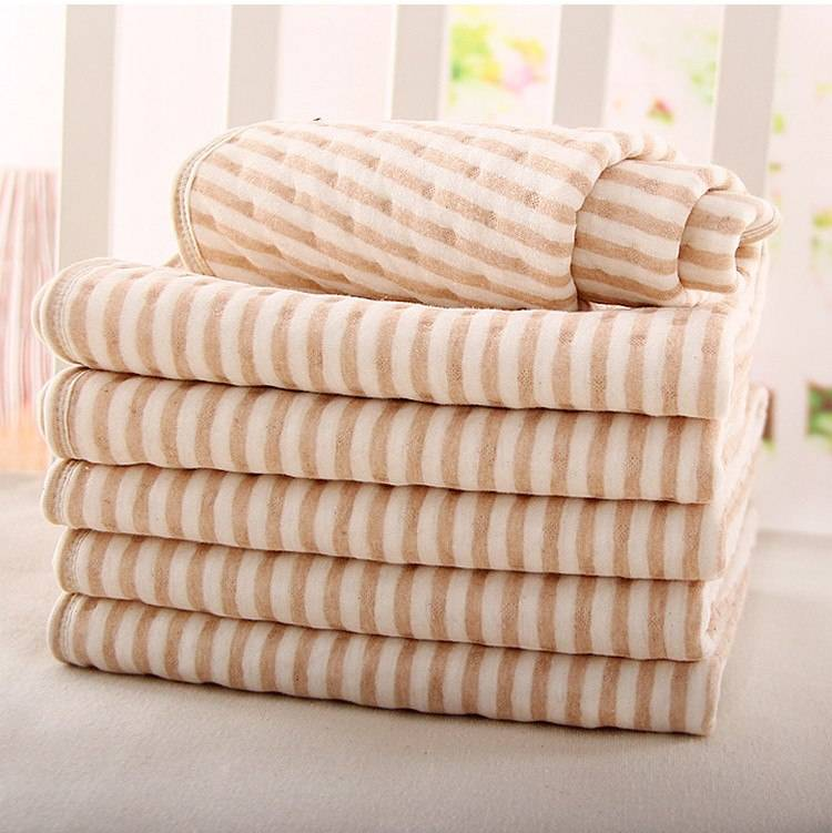 Organic colored cotton + Waterproof EVA Layer Baby Changing Mat Waterproof Changing Urine Pad Bed Sheets for Newborn