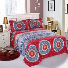 Boho Style Bedding Bohemian Mandala Sheets Set Blue Red Full Size Flat Sheet