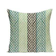 Morocco Decor Geometric Throw Pillow Cover Case Linen Cushion Cover For Sofa Home Decor  Green Wave Custom Capa De Almofadas