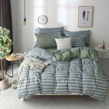 Bedding Set Whole cotton Color lattice stripes geometry Warm family pillowcases 3/4pcs Duvet Cover sets Soft Bed Sheet