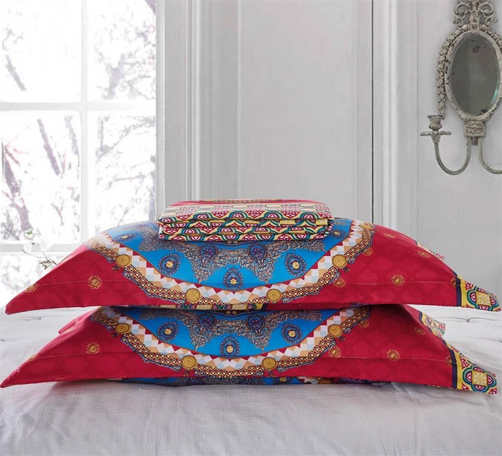 bohemian polyester queen size bedding set