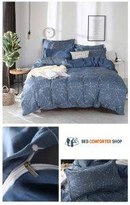constellation blue bed set