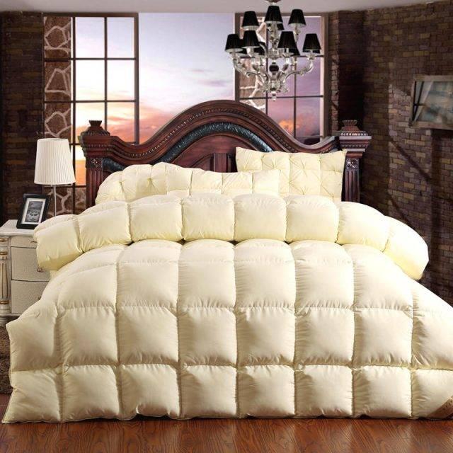 goose down comforter beige