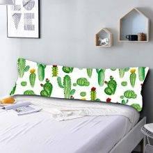 HELENGILI 20x54 Inch 3D Body Pillowcase Cartoon Cactus Decorative Pillow Case for Adult Kids Cute Pillow Cover