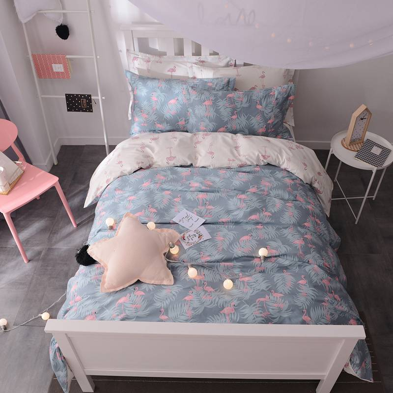 Girl S Pink Flamingo Bedding Set