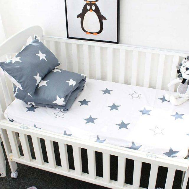 baby crib bedding star bed sheet
