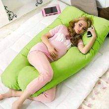 panda body pillow green