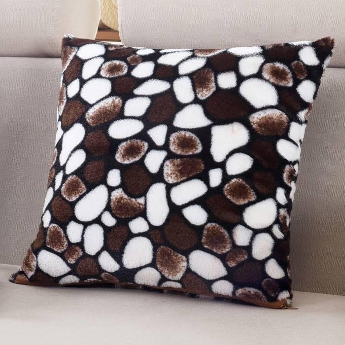 1Pcs Leopard Dots Leaf Pattern Soft Short Velvet Throw Pillow Cushion Cover Seat Car Home Sofa Bed Decorative Pillowcase 40058