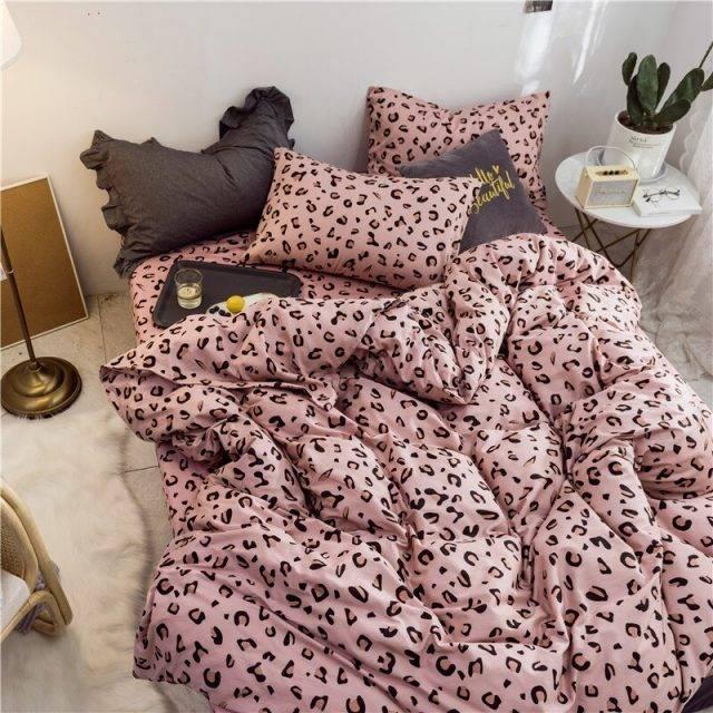 3Pcs Leopard Pattern 100% Cotton Bedding Set