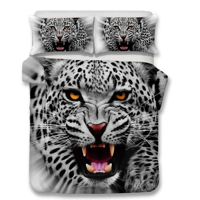 3D Bedding Set snow Leopard Print Duvet cover set Twin queen king bedclothes with pillowcases bed set home Textiles #2