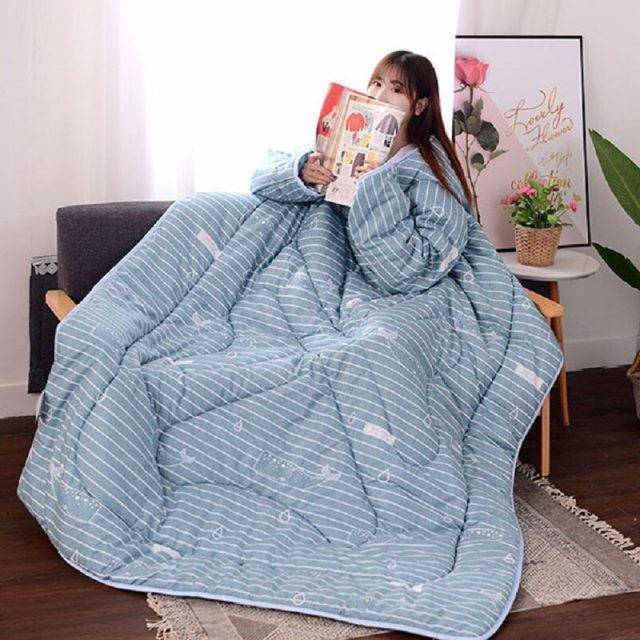 Wearable Lazy Comforter With Sleeves (20 Designs)