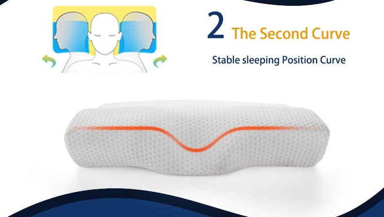 Memory Foam Bedding Pillow Neck Second Curve