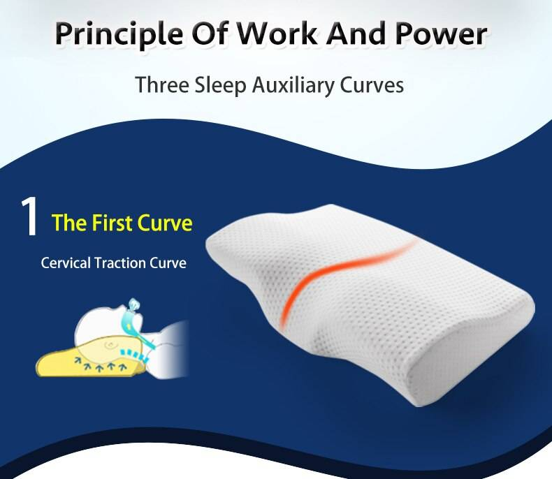Memory Foam Bedding Pillow Neck First Curve