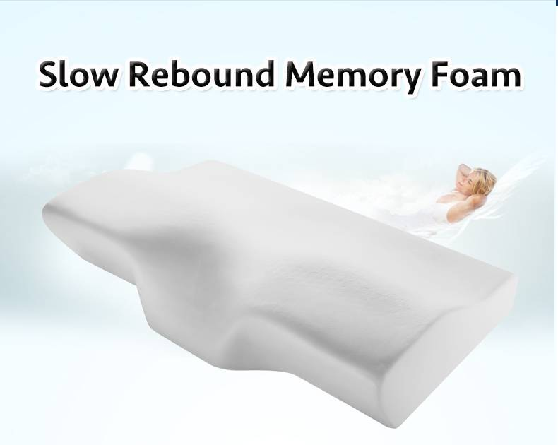 Slow Rebound Memory Foam Butterfly Shaped Pillow