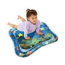 baby girl playing on aquarium mat