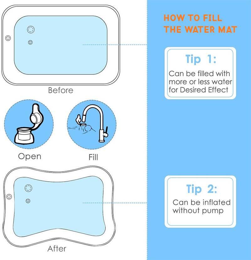 aquarium baby water mat instructions